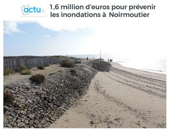 illustration Île de Noirmoutier : 1,6 million d'euros contre les inondations