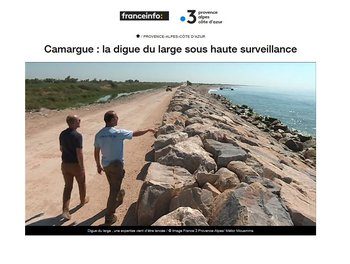 illustration Camargue : la digue du large sous haute surveillance